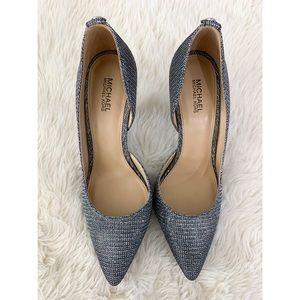 Michael Kors Silver Glitter Heels